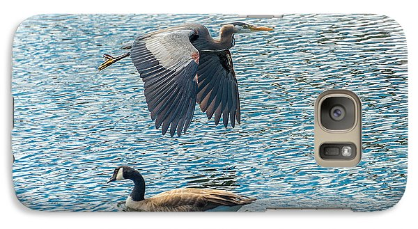 Galaxy Case featuring the photograph Passing Waterfowl by Jerry Cahill