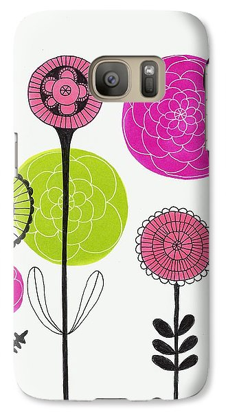 Galaxy Case featuring the mixed media Passion Flowers by Lisa Noneman