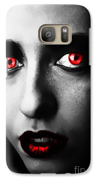 Galaxy Case featuring the painting Passion Glare by Tbone Oliver
