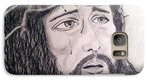 Galaxy Case featuring the painting Passion Of Christ by Brindha Naveen