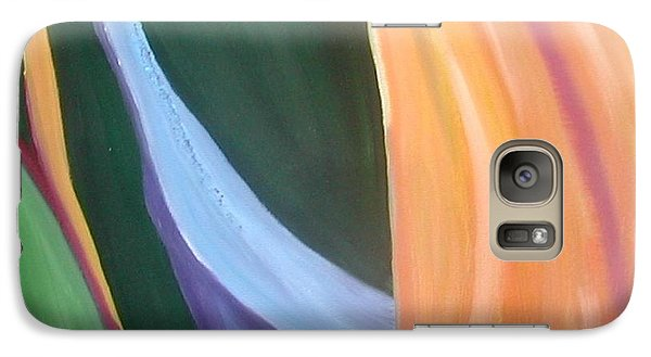 Galaxy Case featuring the painting Passion Unfolding 1 by Lori Jacobus-Crawford
