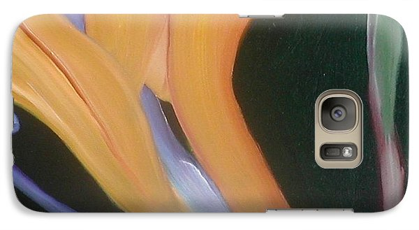 Galaxy Case featuring the painting Passion Unfolding 2 by Lori Jacobus-Crawford