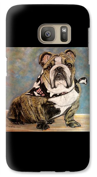 Galaxy Case featuring the painting Pastel English Brindle Bull Dog by Patricia L Davidson