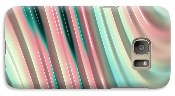 Galaxy Case featuring the photograph Pastel Fractal 2 by Bonnie Bruno