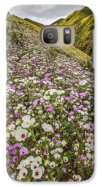 Galaxy Case featuring the photograph Pastel Super Bloom by Peter Tellone