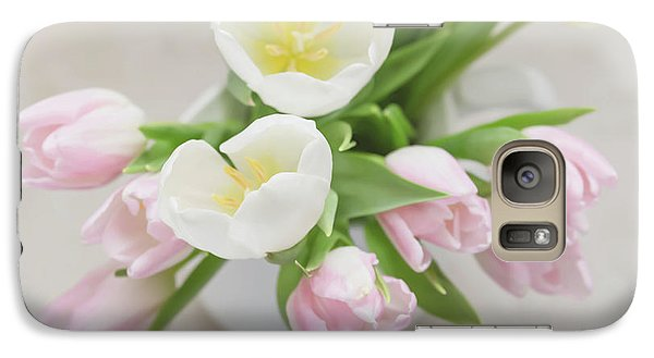 Galaxy Case featuring the photograph Pastel Tulips by Kim Hojnacki