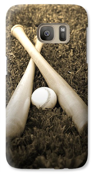 Softball Galaxy S7 Case - Pastime by Shawn Wood
