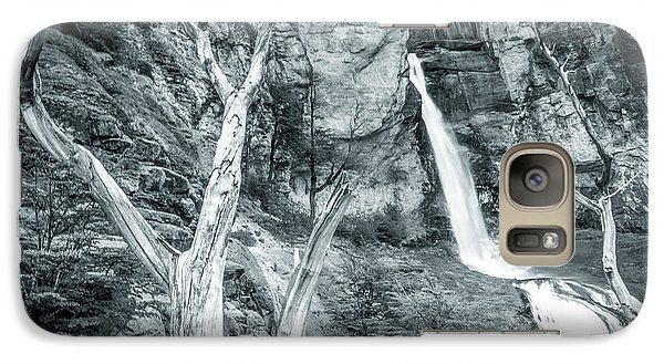 Galaxy Case featuring the photograph Patagonian Waterfall by Andrew Matwijec
