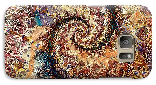 Galaxy Case featuring the digital art Patchwork Spiral by Richard Ortolano