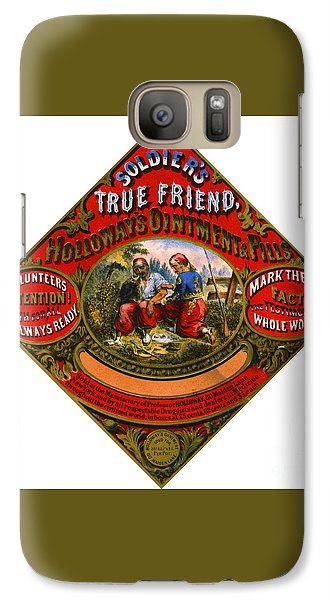 Galaxy Case featuring the photograph Patent Medicine Label 1862 by Padre Art