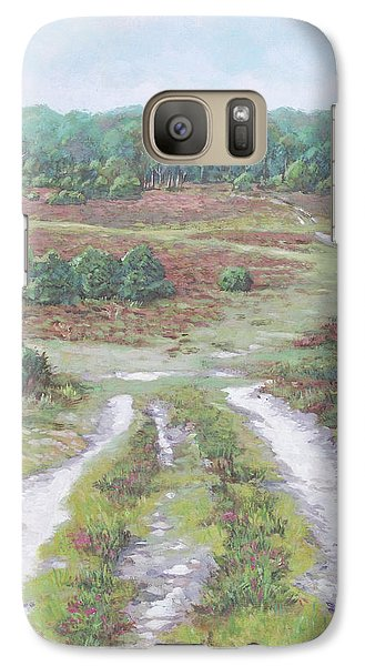 Galaxy Case featuring the painting Path In New Forest  by Martin Davey