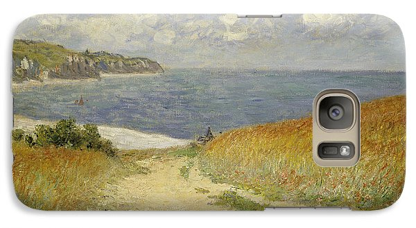 Path In The Wheat At Pourville Galaxy Case by Claude Monet