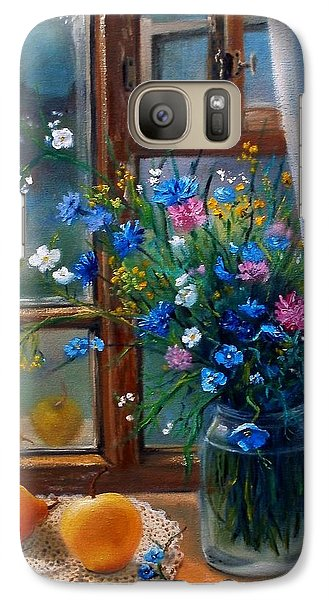 Galaxy Case featuring the painting Path To Home by Nina Mitkova