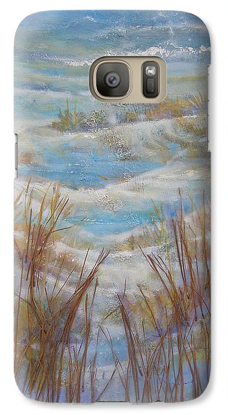 Galaxy Case featuring the painting Path To Peace by Gertrude Palmer