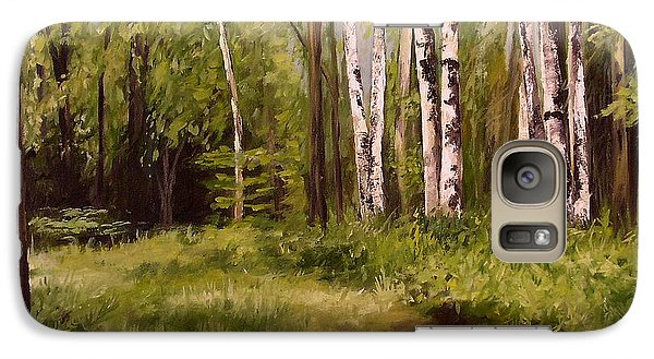 Galaxy Case featuring the painting Path To The Birches by Laurie Rohner