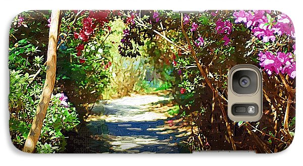 Galaxy Case featuring the digital art Path To The Gardens by Donna Bentley