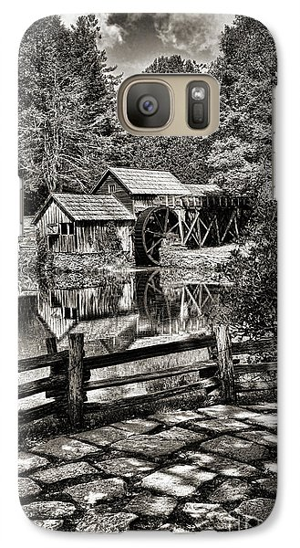 Galaxy Case featuring the photograph Pathway To Marby Mill In Black And White by Paul Ward