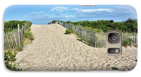 Galaxy Case featuring the photograph Pathway To The Beach - Delaware by Brendan Reals