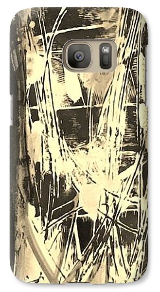 Galaxy Case featuring the painting Patience by Carol Rashawnna Williams