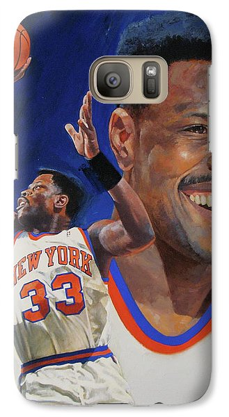 Galaxy Case featuring the painting Patrick Ewing by Cliff Spohn