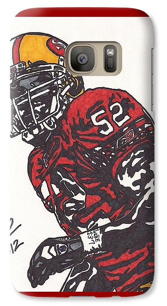 Galaxy Case featuring the drawing Patrick Willis by Jeremiah Colley