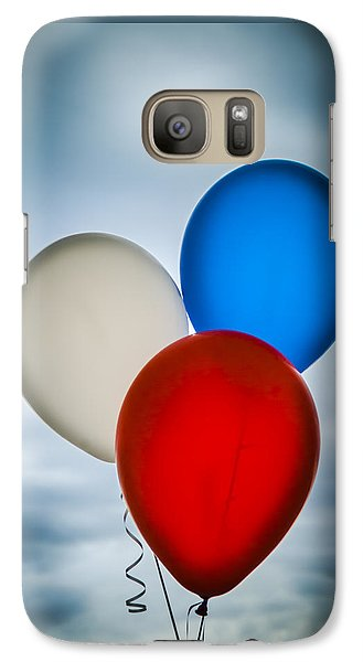 Galaxy Case featuring the photograph Patriotic Balloons by Carolyn Marshall