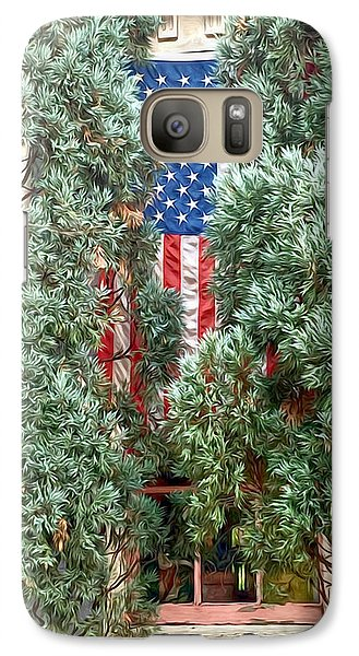 Galaxy Case featuring the photograph Patriotic Georgetown Home by Lorella Schoales