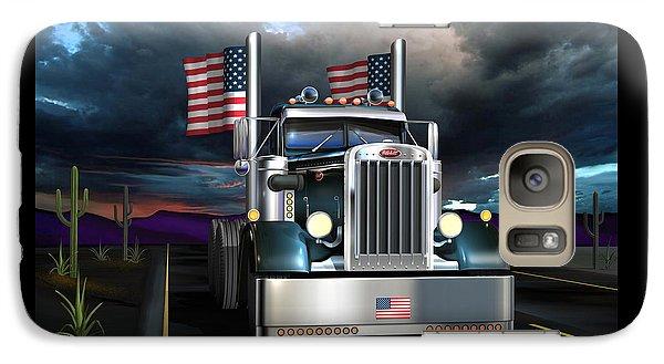 Galaxy Case featuring the digital art Patriotic Pete by Stuart Swartz