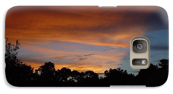 Galaxy Case featuring the photograph Patriotic Sunset by Kerry Beverly