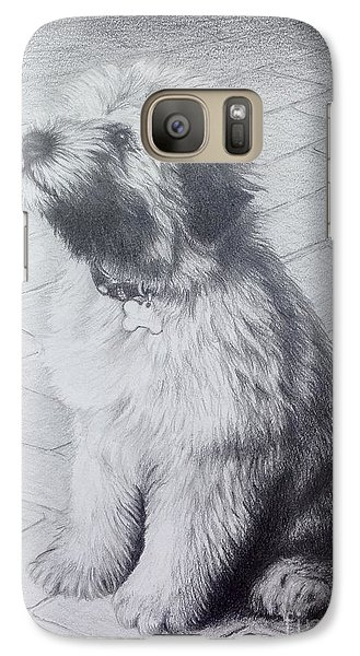 Galaxy Case featuring the drawing Patsy's Puppy by Mike Ivey