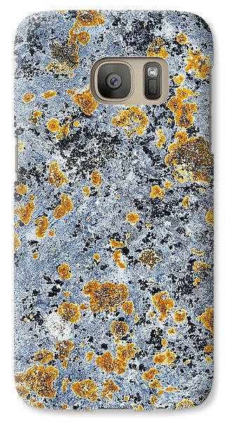 Pattern In Lichen  Galaxy Case by Tim Gainey