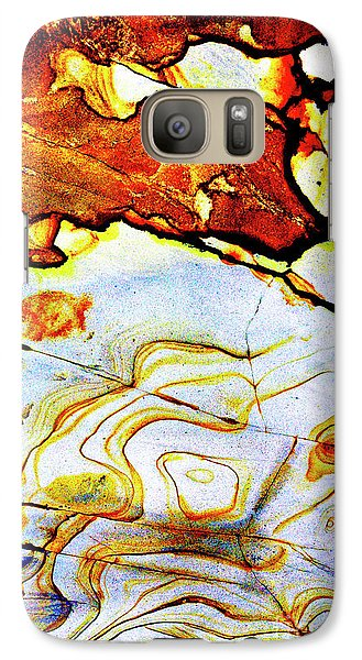 Galaxy Case featuring the photograph Patterns In Stone - 201 by Paul W Faust - Impressions of Light