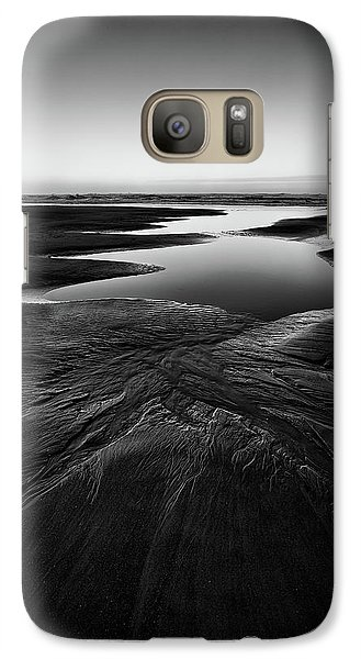 Galaxy Case featuring the photograph Patterns In The Sand by Jon Glaser