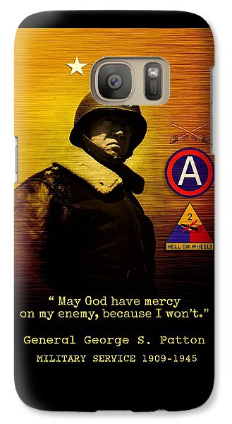 Galaxy Case featuring the digital art Patton Tribute by John Wills