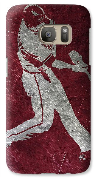 Paul Goldschmidt Arizona Diamondbacks Art Galaxy S7 Case by Joe Hamilton