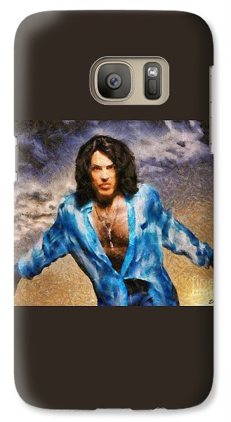 Galaxy Case featuring the painting Paul Stanley Of Kiss by Elizabeth Coats