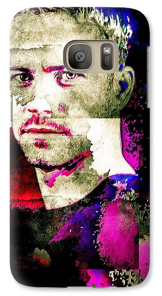 Galaxy Case featuring the mixed media Paul Walker by Svelby Art