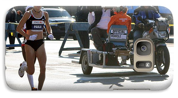 Galaxy Case featuring the photograph Paula Radcliffe 2007 Ing Nyc Marathon 2 by Terry Cork