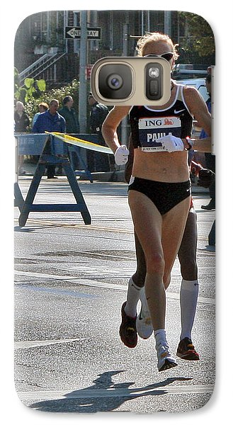Galaxy Case featuring the photograph Paula Radcliffe Nyc Marathon by Terry Cork