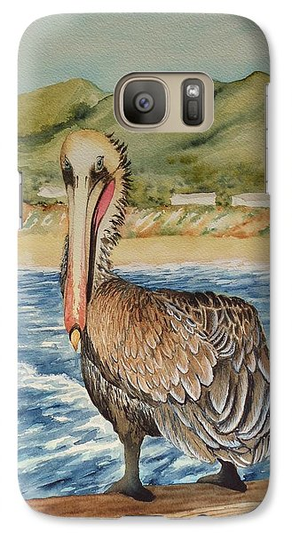 Galaxy Case featuring the painting Paula's Pelican by Katherine Young-Beck