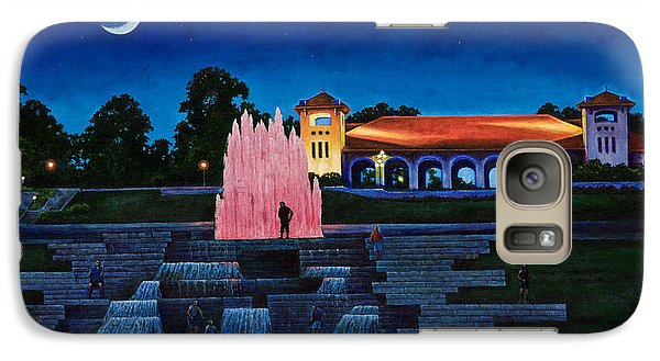 Galaxy Case featuring the painting Pavilion Fountains by Michael Frank