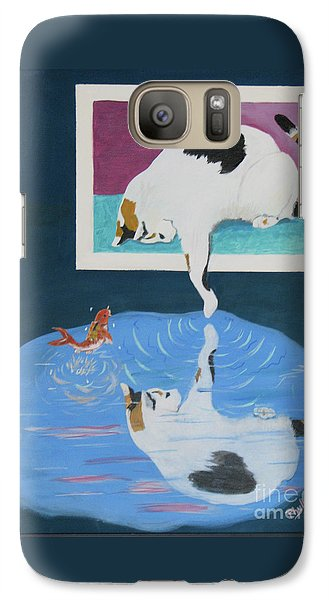 Galaxy Case featuring the painting Paws And Effect by Phyllis Kaltenbach