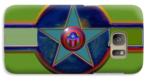Galaxy Case featuring the digital art Pax Americana Decal by Charles Stuart
