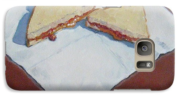 Galaxy Case featuring the painting Pb And J On Napkin by Jennifer Boswell