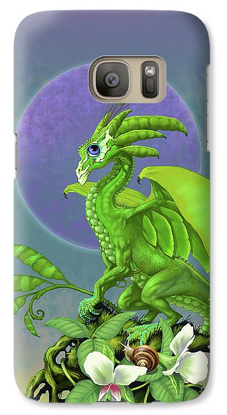 Galaxy Case featuring the digital art Pea Pod Dragon by Stanley Morrison