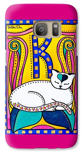 Peace And Love - Cat Art By Dora Hathazi Mendes Galaxy S7 Case by Dora Hathazi Mendes