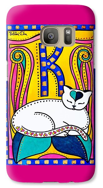 Peace And Love - Cat Art By Dora Hathazi Mendes Galaxy S7 Case