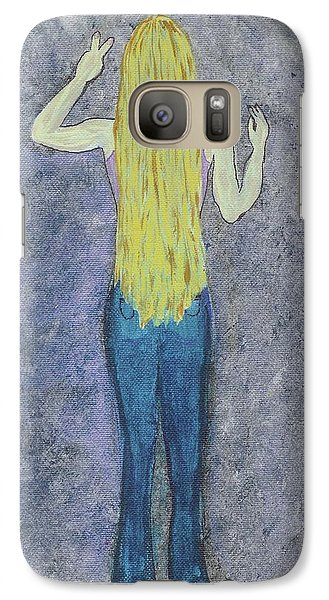 Galaxy Case featuring the mixed media Peace by Desiree Paquette
