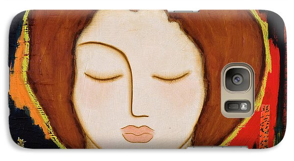 Galaxy Case featuring the painting Peace Messenger by Gloria Rothrock