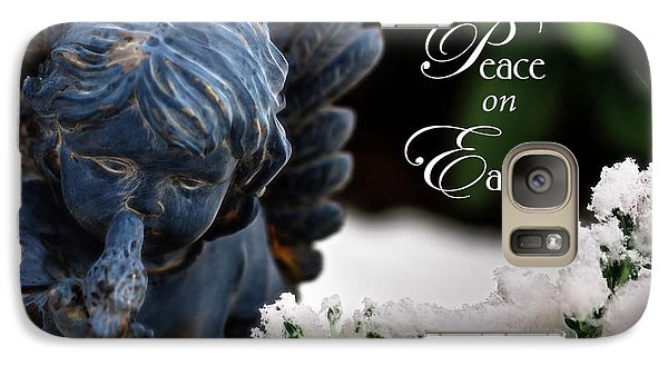 Galaxy Case featuring the photograph Peace On Earth Angel by Shelley Neff